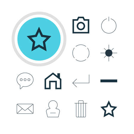 eject: Vector Illustration Of 12 Member Icons. Editable Pack Of Accsess, Minus, Remove User And Other Elements.