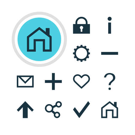 increased: Vector Illustration Of 12 Member Icons. Editable Pack Of Cogwheel, Plus, Check And Other Elements. Illustration