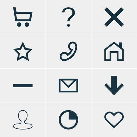 expel: Vector Illustration Of 12 User Icons. Editable Pack Of Wheelbarrow, Wrong, Help And Other Elements. Illustration