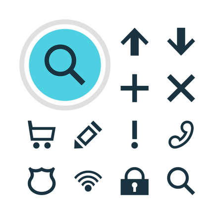 Vector Illustration Of 12 Interface Icons. Editable Pack Of Top, Conservation, Alert And Other Elements.