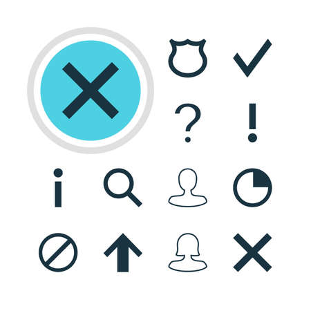 Vector Illustration Of 12 User Icons. Editable Pack Of Man Member, Check, Female User And Other Elements.