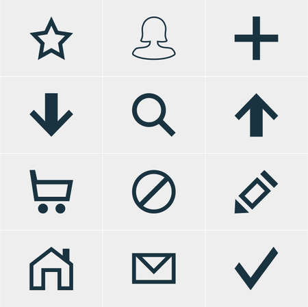 denied: Vector Illustration Of 12 User Icons. Editable Pack Of Seek, Wheelbarrow, Access Denied And Other Elements.