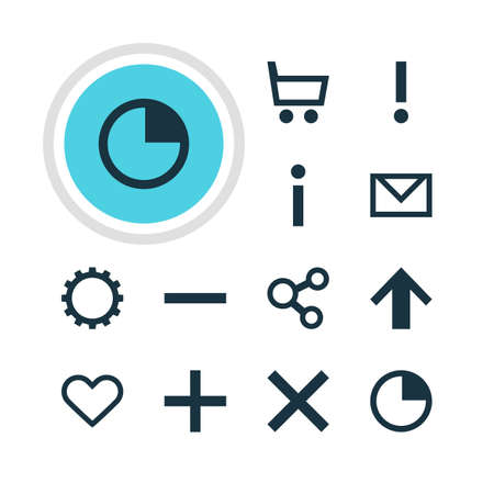 dangerous: Vector Illustration Of 12 User Icons. Editable Pack Of Alert, Letter, Minus And Other Elements.