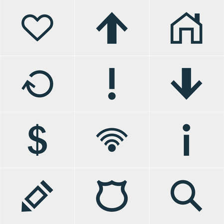 safekeeping: Vector Illustration Of 12 Interface Icons. Editable Pack Of Money Making, Emotion, Alert And Other Elements.