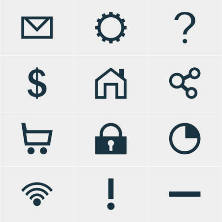 expel: Vector Illustration Of 12 Member Icons. Editable Pack Of Minus, Padlock, Alert And Other Elements.