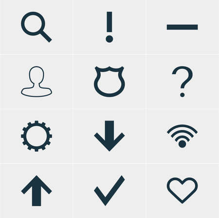 dangerous: Vector Illustration Of 12 Member Icons. Editable Pack Of Alert, Minus, Seek And Other Elements.