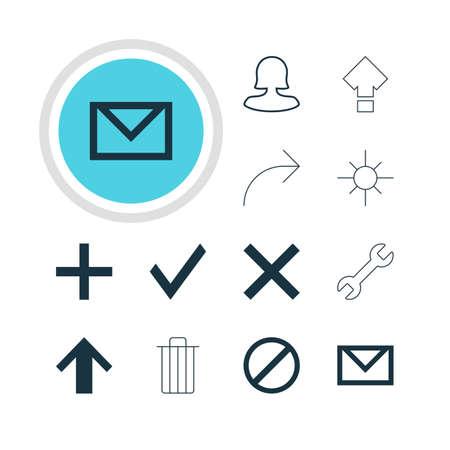 Ilustración vectorial de 12 iconos de miembros. Pack editable de desplazamiento, acceso denegado, llave y otros elementos.