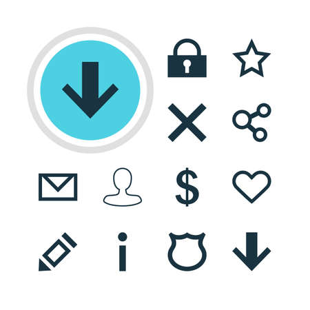 approbation: Vector Illustration Of 12 Interface Icons. Editable Pack Of Pen, Publish, Wrong And Other Elements.