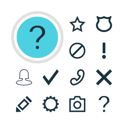 dangerous: Illustration Of 12 User Icons. Editable Pack Of Asterisk, Conservation, Help And Other Elements. Illustration