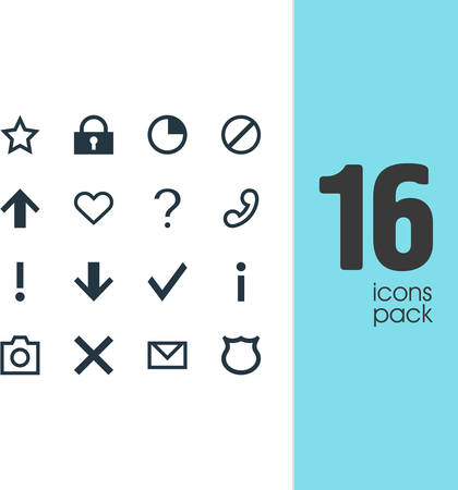 Vector Illustration Of 16 Member Icons. Editable Pack Of Downward, Confirm, Access Denied And Other Elements.