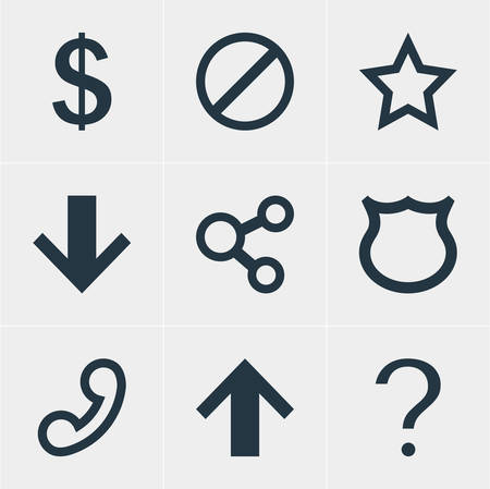Vector Illustration Of 9 User Icons. Editable Pack Of Money Making, Help, Top And Other Elements.