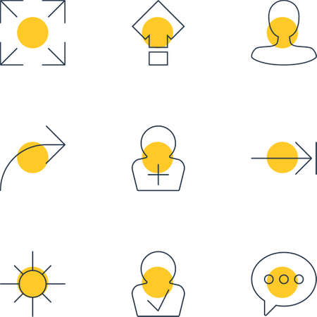 increased: Vector Illustration Of 9 Interface Icons. Editable Pack Of Wide Monitor, Approved Profile, Message And Other Elements.
