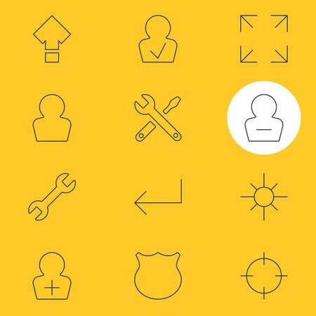 Vector Illustration Of 12 UI Icons. Editable Pack Of Screen Capture, Accsess, Wide Monitor And Other Elements.