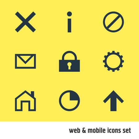 ticker: Illustration of 9 interface icons.