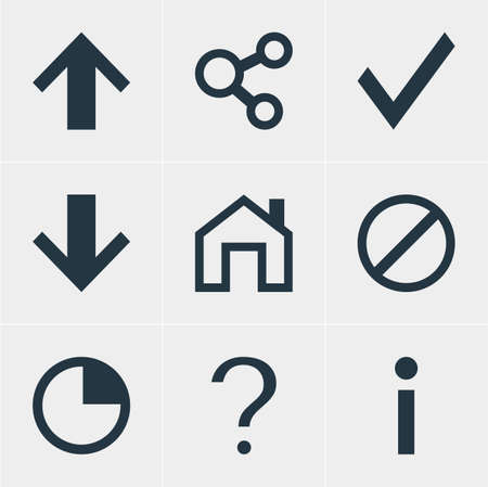 Vector Illustration Of 9 Member Icons. Editable Pack Of Confirm, Publish, Info And Other Elements.