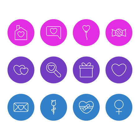 Vector Illustration Of 12 Passion Icons. Editable Pack Of Messenger, Home, Magnifier And Other Elements. Illustration