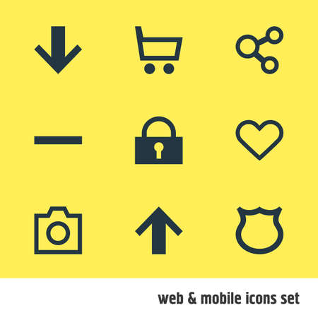 trade secret: Vector Illustration Of 9 Member Icons. Editable Pack Of Downward, Snapshot, Publish And Other Elements. Illustration