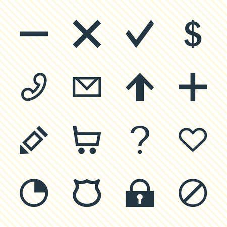 Vektor-Illustration von 16 User Icons - Bearbeitbare Pack von Access verweigert, Minus, Geld machen und andere Elemente.