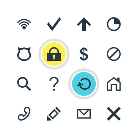 Vector Illustration Of 16 User Icons. Editable Pack Of Confirm, Access Denied, Help And Other Elements.