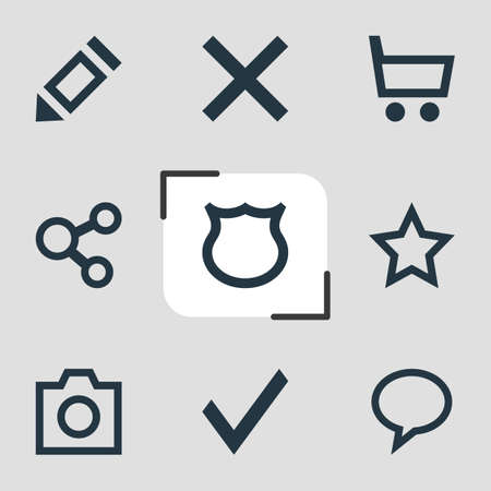 Vector Illustration Of 9 User Icons. Editable Pack Of Confirm, Publish, Asterisk And Other Elements.