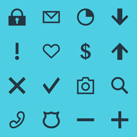 Vector Illustration Of 16 Member Icons. Editable Pack Of Confirm, Money Making, Alert And Other Elements.