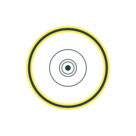 Vector Illustration Of Camera Lens Outline. Beautiful Notebook Element Also Can Be Used As Objective Element. Illustration