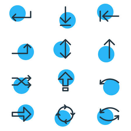 Vector Illustration Of 12 Sign Icons. Editable Pack Of Exchange, Right, Undo And Other Elements.