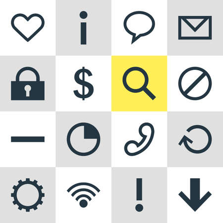 turn about: Vector Illustration Of 16 Interface Icons. Editable Pack Of Alert, Info, Stopwatch And Other Elements. Illustration