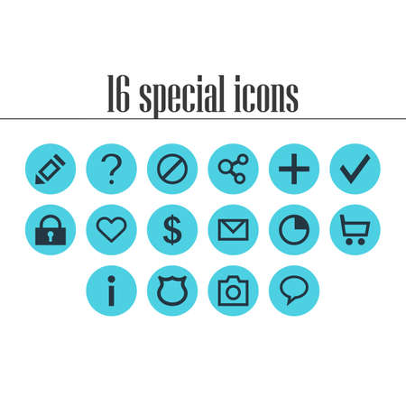 ticker: Vector Illustration Of 16 Member Icons. Editable Pack Of Money Making, Wheelbarrow, Snapshot And Other Elements.