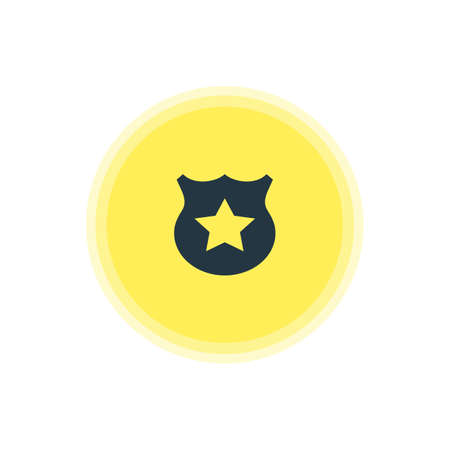 be: Vector Illustration Of Police Icon. Beautiful Map Element Also Can Be Used As Cop  Element.