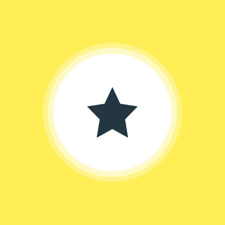 Vector Illustration Of Star Icon. Beautiful Online Element Also Can Be Used As Bookmark Element.