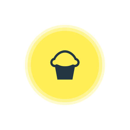 be: Vector Illustration Of Bakery Icon. Beautiful Location Element Also Can Be Used As Cake Element.