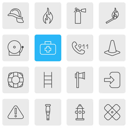 energy work: Vector Illustration Of 16 Necessity Icons. Editable Pack Of Spike, Burn, Stairs And Other Elements.