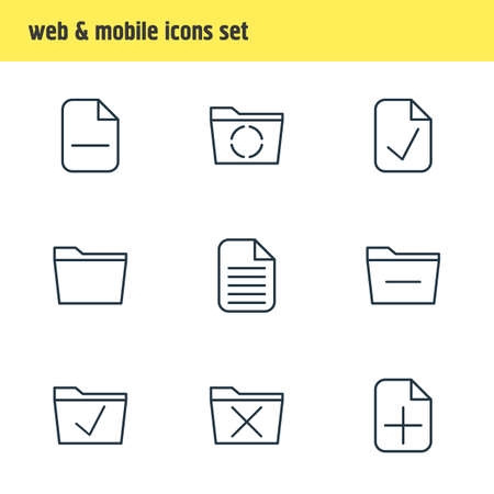 reviewed: Vector Illustration Of 9 Workplace Icons. Editable Pack Of Loading, Template, Done And Other Elements.