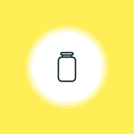 Vector Illustration Of Jar Icon. Beautiful Restaurant Element Also Can Be Used As Can Element.