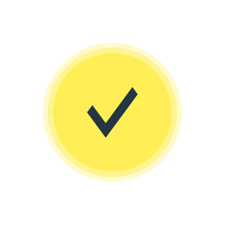Vector Illustration Of Approve Icon. Beautiful User Element Also Can Be Used As Confirm Element. 向量圖像