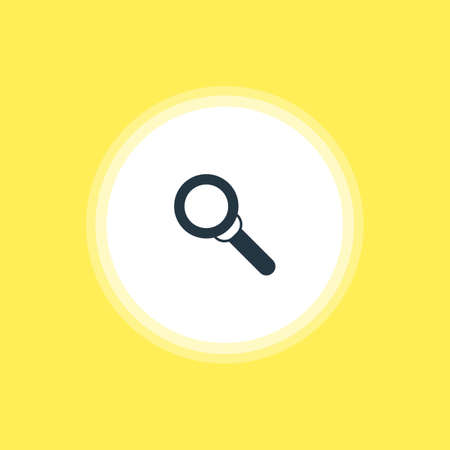 Vector Illustration Of Search Icon. Beautiful Online Element Also Can Be Used As Magnifier Element.
