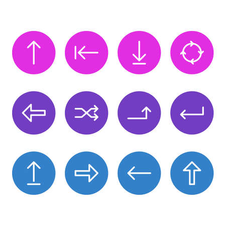 Vector Illustration Of 12 Sign Icons