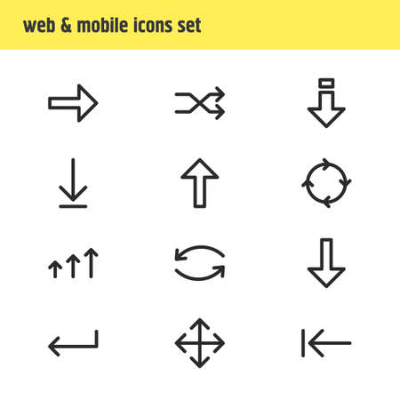 Vector Illustration Of 12 Direction Icons