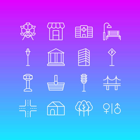 Vector Illustration Of 16  Icons