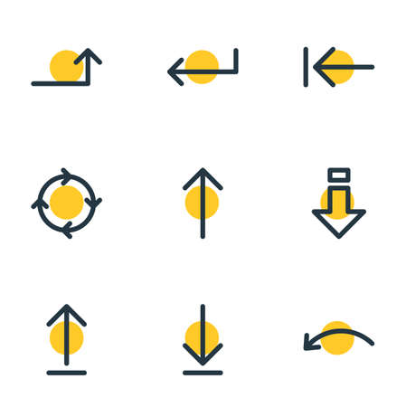 Vector Illustration Of 9 Sign Icons Illustration