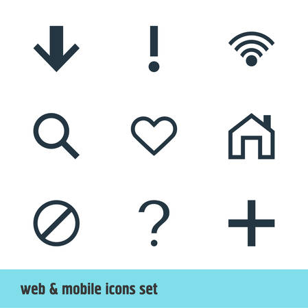 Vector Illustration Of 9 Interface Icons