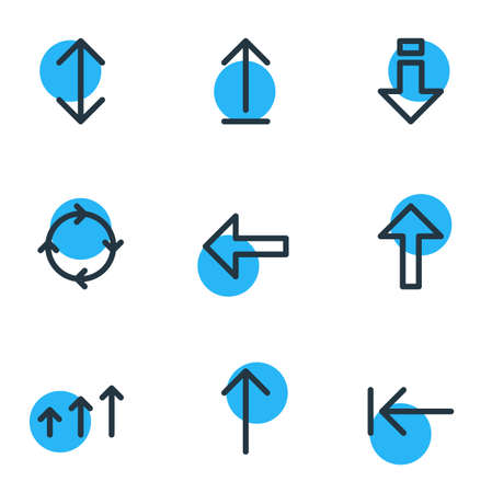 Vector Illustration Of 9 Direction Icons