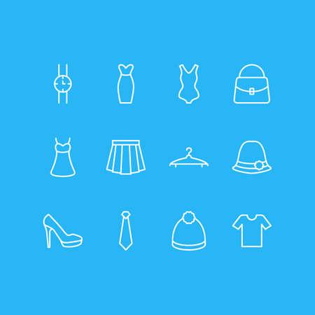Vector Illustration Of 12 Garment Icons