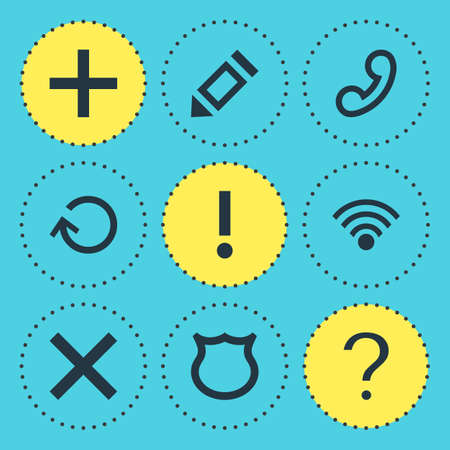 wireless icon: Vector Illustration Of 9 User Icons
