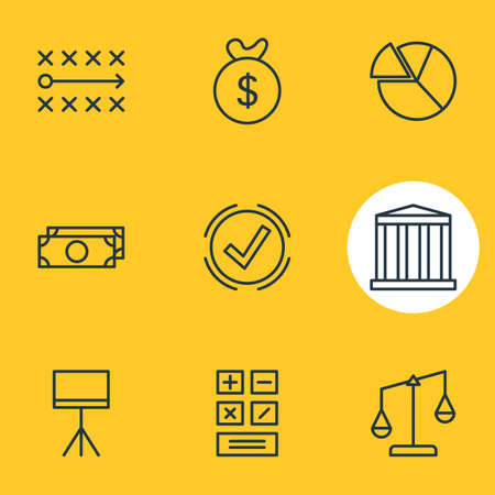 jobs: Vector Illustration Of 9 Business Icons