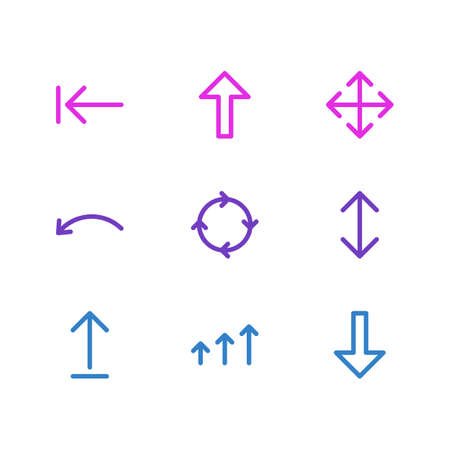 Vector Illustration Of 9 Sign Icons Illustration