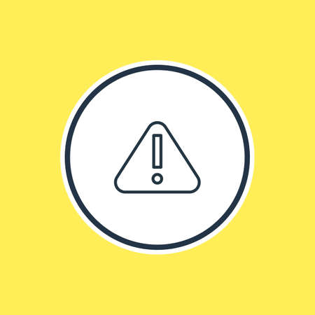 beware: Vector Illustration Of Attention Outline. Beautiful Necessity Element Also Can Be Used As Exclamation  Element. Illustration