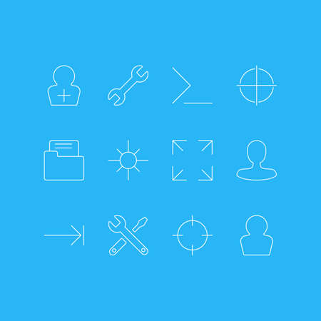 Vector Illustration Of 12 UI Icons. Editable Pack Of Maintenance, Man Member, Avatar And Other Elements.