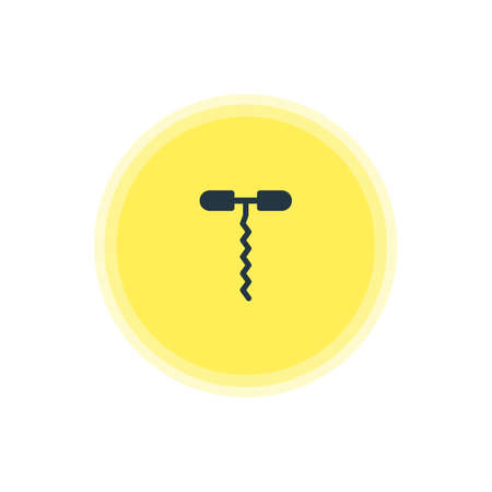 Vector Illustration Of Corkscrew Icon. Beautiful Cooking Element Also Can Be Used As Wine Opener Element.